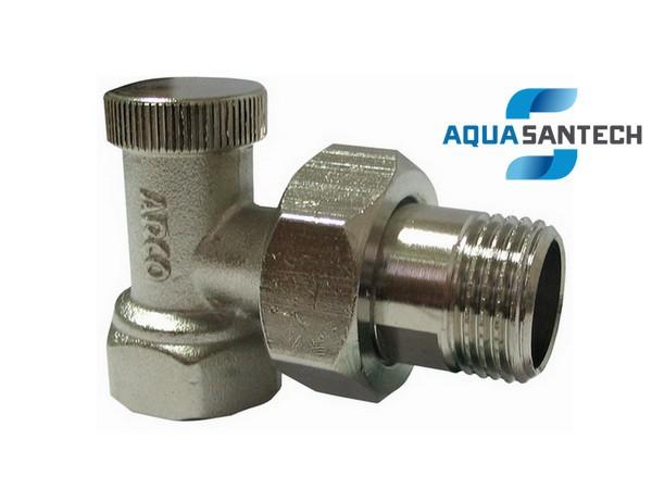 7563. Кран для радиатора угловой под ключ ARCO. Код.