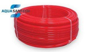 Пластиковая труба для теплого пола красная