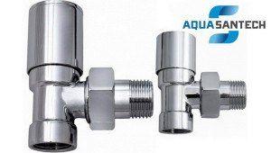 Комплект угловых кранов хром радиаторных Wasser Warme