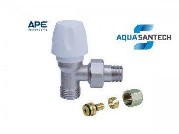 Кран для радиатора отопления APE угловой верхний