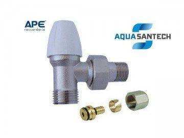Кран для радиатора угловой APE нижний