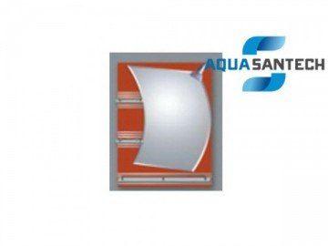 Зеркало Парус A122 подвесное для ванной с светильником и полками
