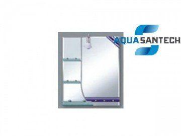 Зеркало LEGEND A134 подвесное для ванной с светильником, 3 полки