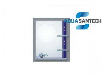 Зеркало прямоугольное LEGEND A143 подвесное синие, светильник, 3 полки