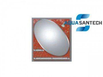 Зеркало LEGEND A278C коричневое угловой овал, светильник, 2 полки