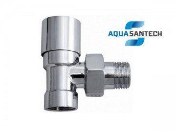 Кран для полотенцесушителей угловой хром нижний - Wasser Warme