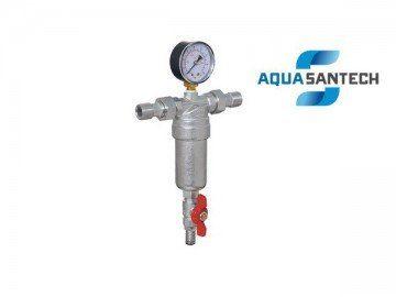 Фильтр самопромывной с краном и манометром - Wasser Warme