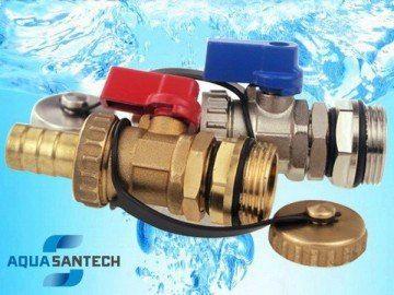 Спускной кран шаровой для системы отопления - Wasser Warme