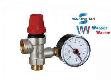 Взрывной клапан для системы отопления с манометром