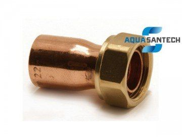 Соединитель прямой медный с накидной гайкой ASN62