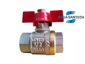 Кран шаровой для воды ВВ PN40 Solomon