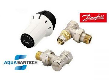 Комплект угловых термокранов с головкой Danfos 013G5163