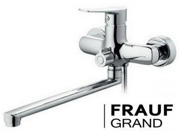 Смеситель для ванной с душем и длинным изливом FRAF GRAND GOLSEN FG-052615