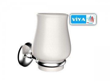 Стакан для щёток стеклянный монтажный VIYA