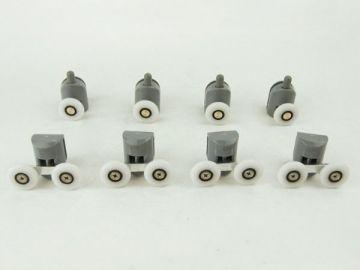 Набор натяжных роликов - 4 нижних одинарных + 4 двойных верхних