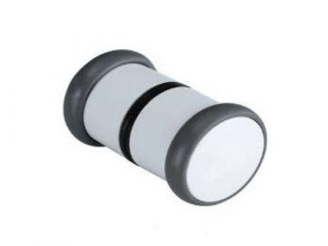 Белая круглая ручка двери душевой кабины - LS802
