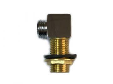 Коннектор угловой хром латунный для гидробокса (PJ24)
