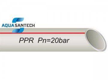 Труба полипропиленовая PP-R для горячей воды (алюминиевая фольга)