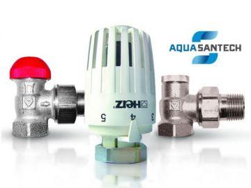 Комплект угловых кранов с термоголовкой HERZ радиаторных