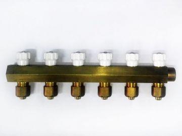 Распределительный коллектор для радиаторного отпления шестигранный