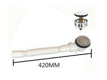 Сифон для душевого поддона с фильтром и переливом - Клик-клак - XS711