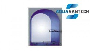 """Зеркало """"АРКА"""" A173C синие подвесное для ванной комнаты, 2 полки"""