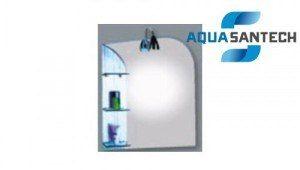 Зеркало LEGEND A214 подвесное для ванной комнаты, светильник, полки