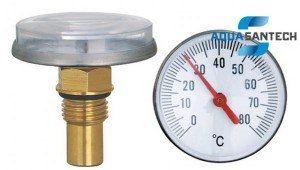 Термометр биметаллический аксиальный - Wasser Warme