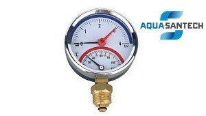 Термоманометр вертикальный - Wasser Warme