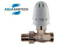 Кран радиаторный прямой с термоголовкой ГЕРЦ-MINI