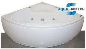 Ванна гидромасcажная угловая с пневмокнопкой APPOLLO - 8 форсунок