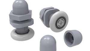 Одинарный ролик с винтом серый - HL607