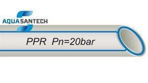 Труба полипропиленовая PP-R для холодной воды 20 бар