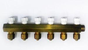 Коллектор распределительный желтый - Wasser Warme