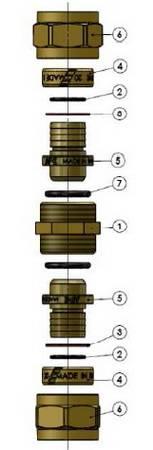 Схема компонентов муфты промежуточной компрессионной APE
