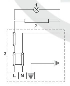 Схема подключения к электрической сети бойлера горизонтального Klima Hitze ECO Slim Dry EHSD