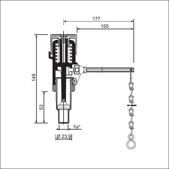 Схема резмеров регулятора тяги HONEYWELL FR-124