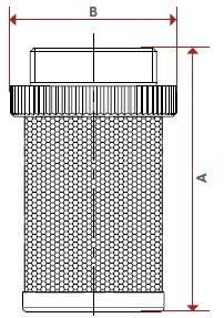Схема-рисунок размеров сетки-фильтра обратных клапанов ITAP