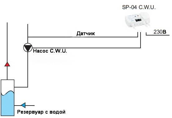 Схема подключения терморегулятора Sterownik SP-04