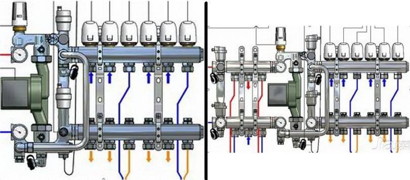 Примеры подключения насосно-смесительного узла Wasser Warme