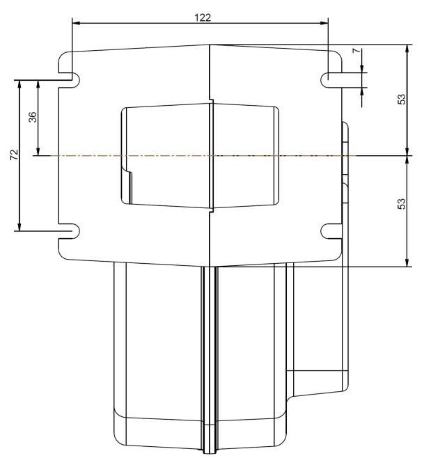 Схема размеров вентилятора DP-02