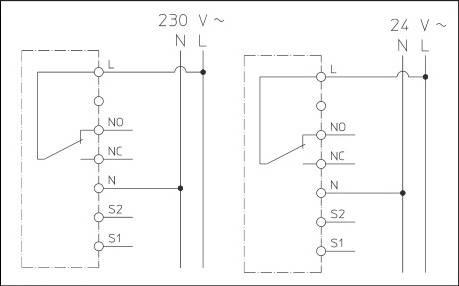 Электрическая схема термостата комнатного с дисплеем Wasser Warme