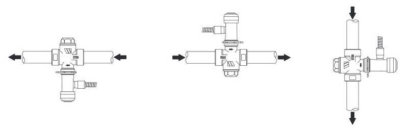 Пример установки защитного термоклапана WATTS STS 20.S для твердотопливного котла
